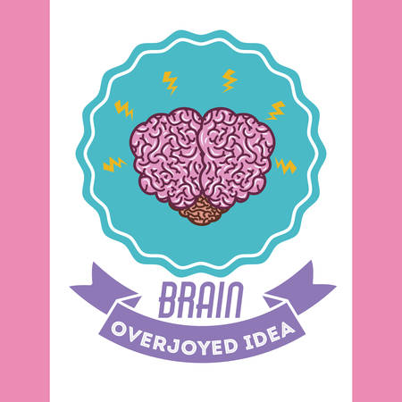 heart intelligence: human brain design, vector illustration eps10 graphic