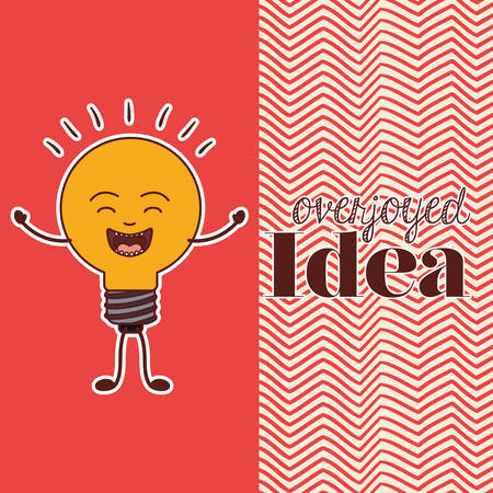 overjoyed: idea concept design, vector illustration eps10 graphic