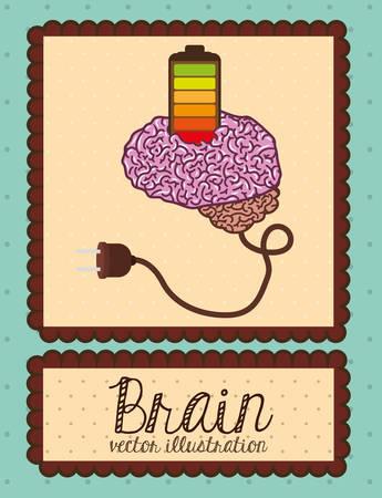 brain illustration: human brain design, vector illustration eps10 graphic