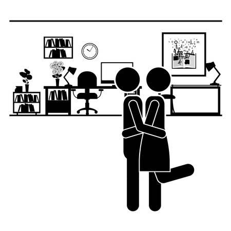 happy couple house: couple life design, vector illustration eps10 graphic
