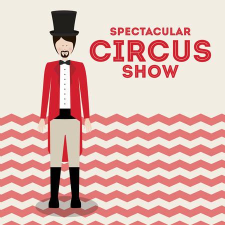 spectacular circus show design, vector illustration eps10 graphic