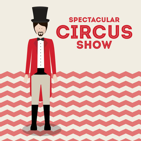 spectacular circus show design, vector illustration eps10 graphic