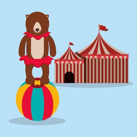 circus caravan: spectacular circus show design, vector illustration eps10 graphic