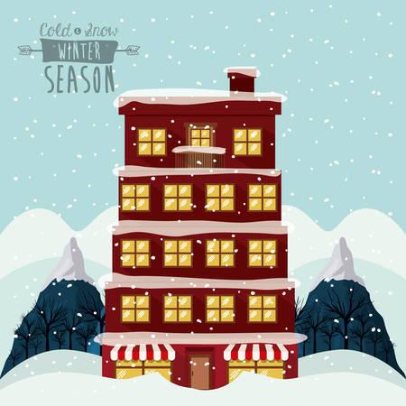 the season: winter season design, vector illustration eps10 graphic