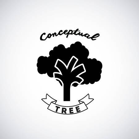 conceptual: conceptual tree design, vector illustration eps10 graphic