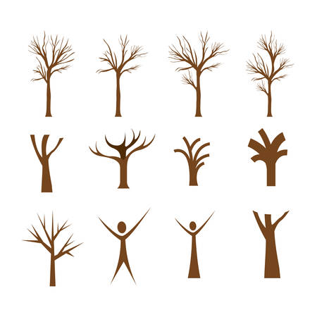 conceptual tree design, vector illustration eps10 graphic