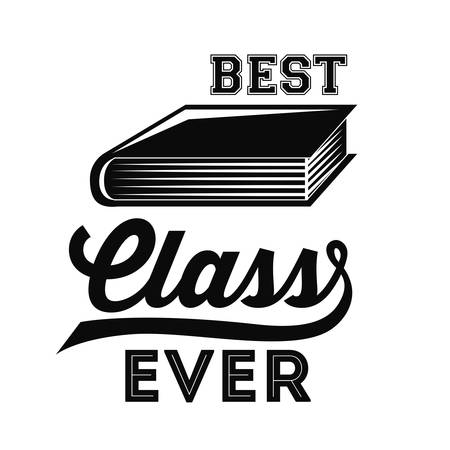 school class: best class design, vector illustration eps10 graphic Illustration