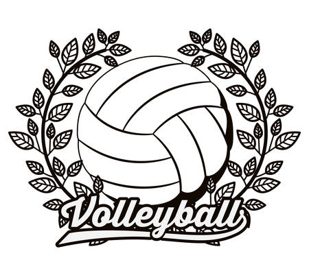 balloon volleyball: volleyball league design, vector illustration eps10 graphic