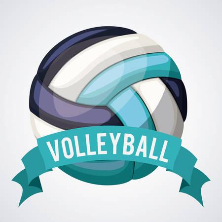 balon voleibol: diseño liga de voleibol, ejemplo gráfico del vector eps10