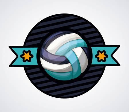 balon voleibol: dise�o liga de voleibol, ejemplo gr�fico del vector eps10