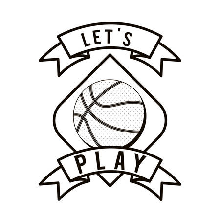 balon baloncesto: dise�o de deporte de baloncesto, ilustraci�n vectorial gr�fico eps10 Vectores