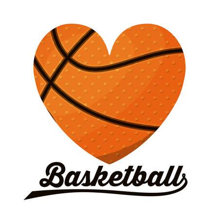 970 basketball heart stock vector illustration and royalty free rh 123rf com Basketball Heart Designs Basketball Clip Art Black and White Heart