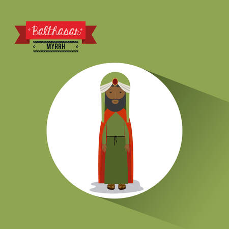 balthasar: happy epiphany design, vector illustration eps10 graphic