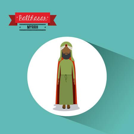 myrrh: happy epiphany design, vector illustration eps10 graphic