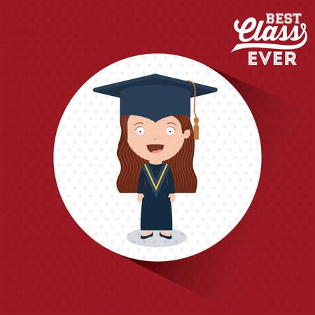 at best: best class design, vector illustration eps10 graphic Illustration