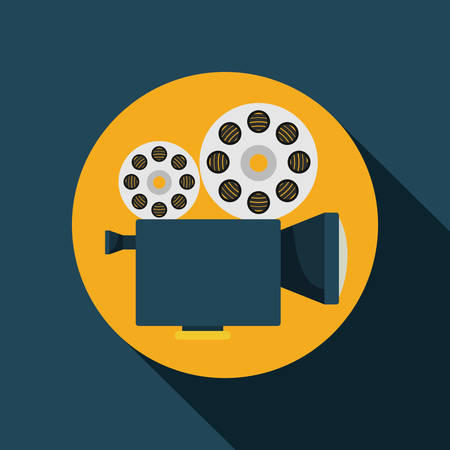 tripod projector: video camera  design, vector illustration eps10 graphic