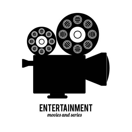 tripod projector: entertainment icons design, vector illustration eps10 graphic Illustration