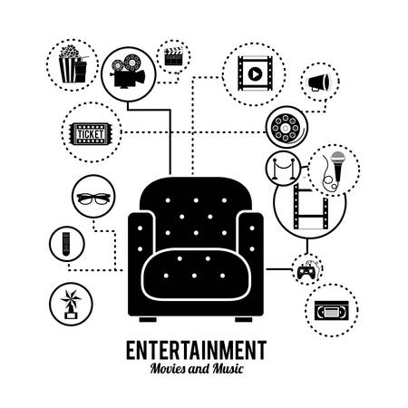 entertainment: entertainment icons design, vector illustration eps10 graphic Illustration