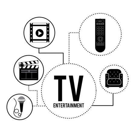 holiday movies: entertainment icons design, vector illustration eps10 graphic Illustration