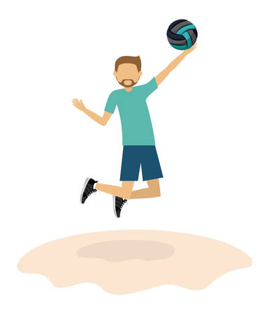 balon de voley: diseño avatar atleta, ejemplo gráfico del vector eps10 Vectores