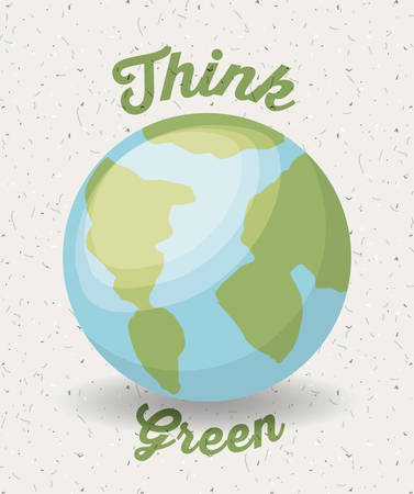 world thinking: think green design, vector illustration eps10 graphic