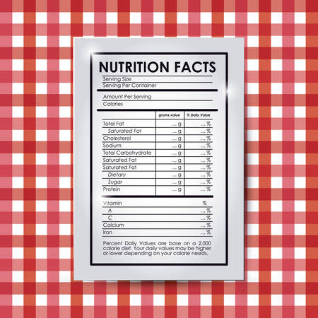 grams: nutrition facts design, vector illustration eps10 graphic
