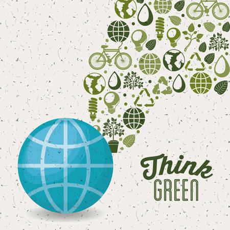 think green design, vector illustration eps10 graphic