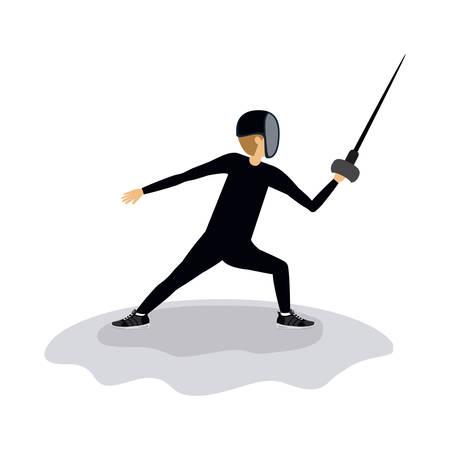 fencing sword: fencing sport design, vector illustration eps10 graphic Illustration