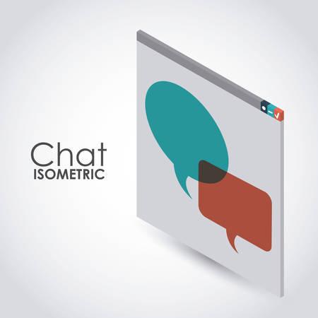 isometric chat icon design, vector illustration eps10 graphic Illustration