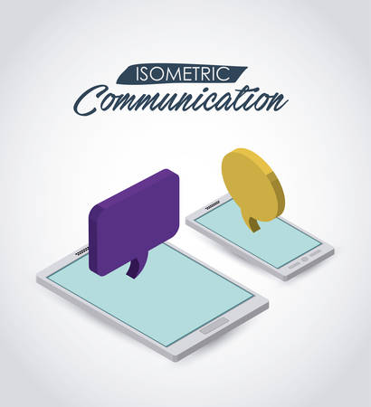 mobil: isometric communication  icon design, vector illustration eps10 graphic