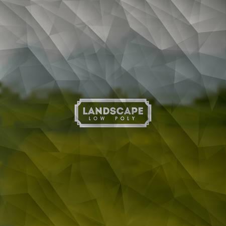 landscape low poly design, vector illustration eps10 graphic