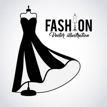 diseño de moda femenina, ilustración vectorial gráfico eps10