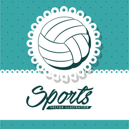 balloon volleyball: dise�o liga de voleibol, ejemplo gr�fico del vector eps10