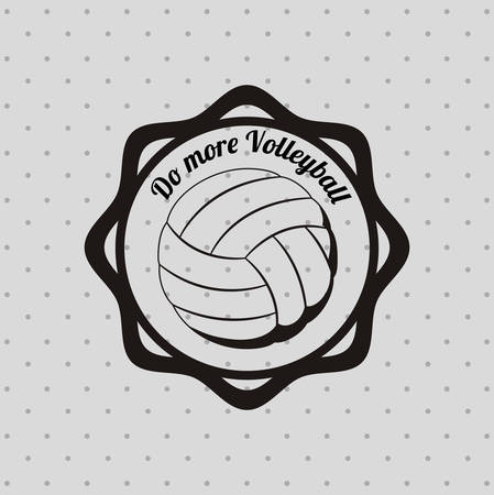 balon de voley: dise�o liga de voleibol, ejemplo gr�fico del vector eps10