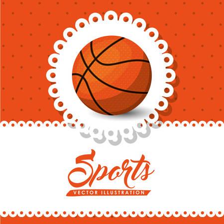 balon baloncesto: dise�o de la liga de baloncesto, ilustraci�n vectorial gr�fico eps10