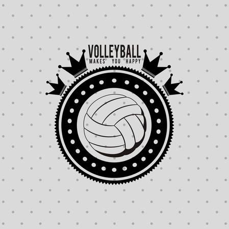 balon de voley: diseño liga de voleibol, ejemplo gráfico del vector eps10