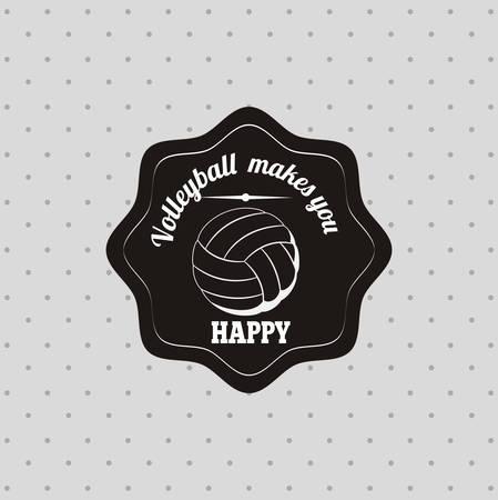 balon de voley: volleyball league design, vector illustration eps10 graphic