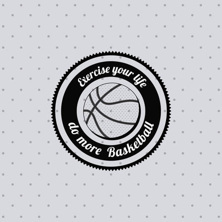 balon baloncesto: basketball league design, vector illustration eps10 graphic Vectores