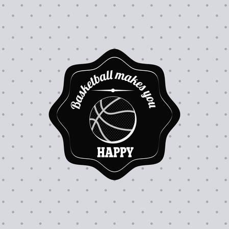 balon de basketball: dise�o de la liga de baloncesto, ilustraci�n vectorial gr�fico eps10