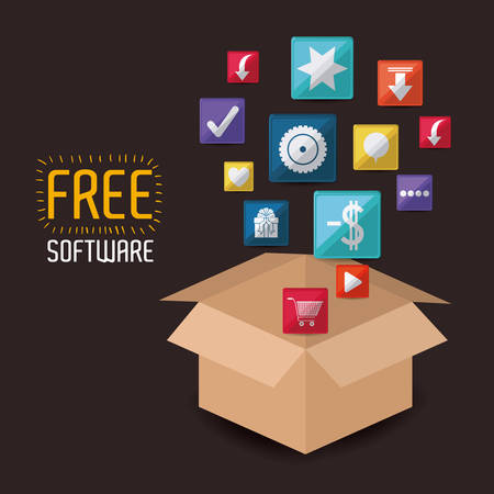 free illustration: free software design, vector illustration eps10 graphic Illustration