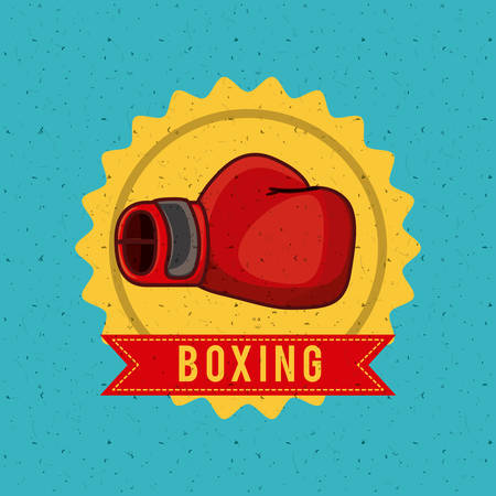 hand glove: boxing sport design, vector illustration eps10 graphic