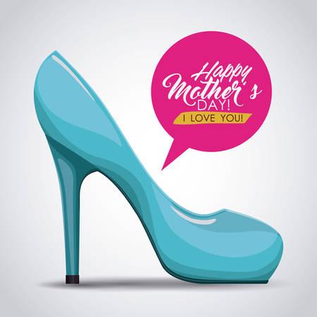 femenine: happy mothers day design, vector illustration eps10 graphic Illustration