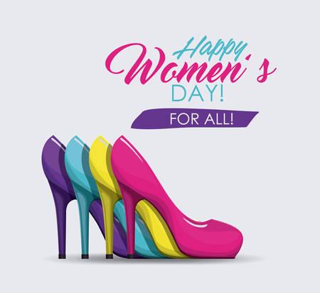 幸せな女性の日デザイン、ベクトル図 eps10 グラフィック