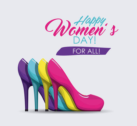 women's shoes: happy womens day design, vector illustration eps10 graphic