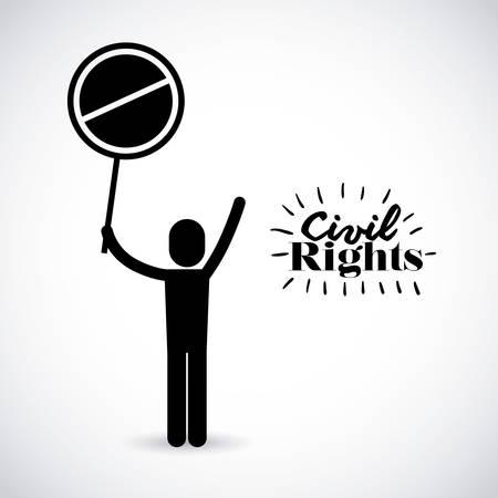 civil rights: civil rights design, vector illustration eps10 graphic