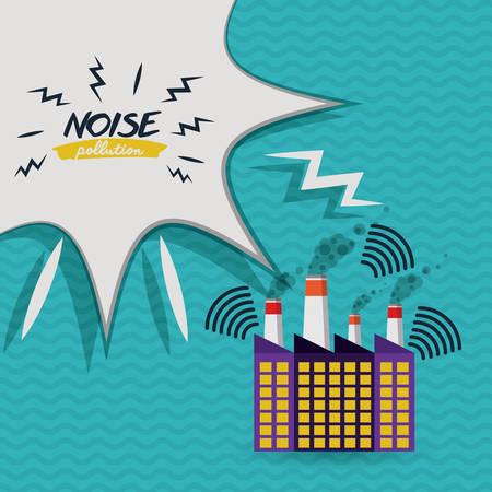 contaminacion acustica: dise�o de la contaminaci�n ac�stica, ejemplo gr�fico del vector eps10 Vectores