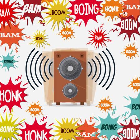 la conception de la pollution sonore, vecteur illustration graphique eps10