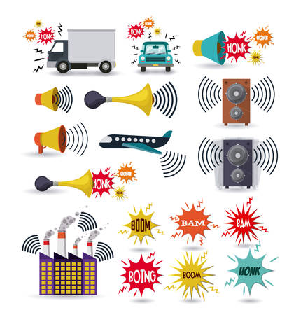 noise pollution design, vector illustration eps10 graphic Reklamní fotografie - 53187734