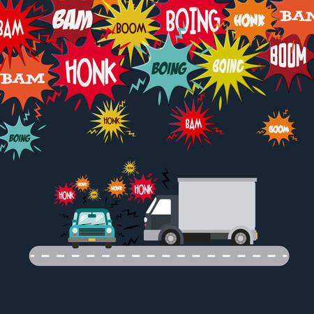 environmental pollution: noise pollution design, vector illustration eps10 graphic