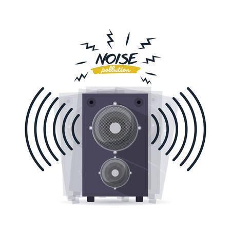 noise pollution: noise pollution design, vector illustration eps10 graphic
